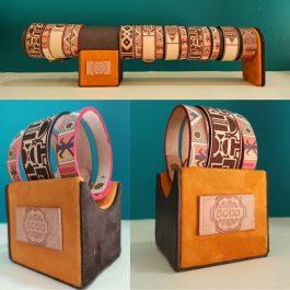 Bracelets en cuir monochrome ou en couleur